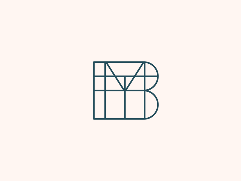 'B' Logo #3 b lines architecture monogram brand graphic design identity mark flat vector logo design branding icon