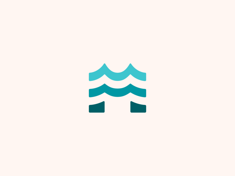 M Wave Logo letter ocean waves m typogaphy graphic design mark identity simple icons flat logo design branding icon