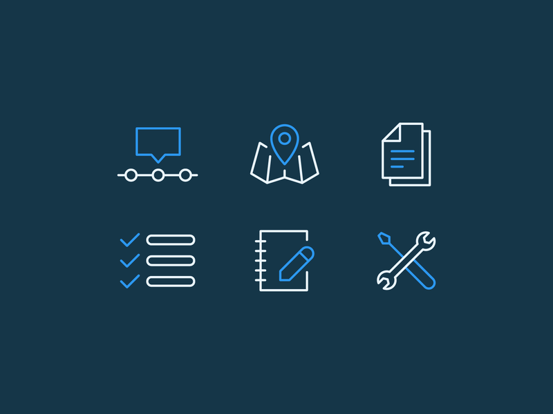 Product Launch Icons note tools timeline mapping map lines graphic design simple icons flat vector branding design illustration icon