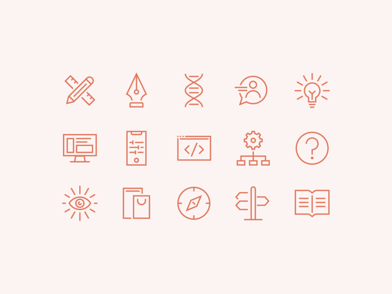 Services Icons lines graphic design simple icons logo vector branding design illustration icon