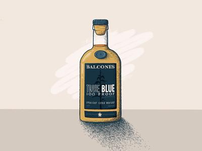 Balcones True Blue Whisky libations texas wacom whiskey whisky alcohol typography graphic design design icon illustration