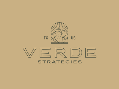 Verde Branding / Logo brand identity brand design natural verde texas mountains prickly pear cactus typography brand mark identity graphic design logo branding design illustration icon