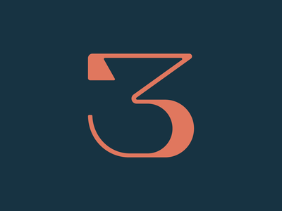 3 / 36 Days of Type 36daysoftype lettering 3 number letter typeface type design typedesign type typography