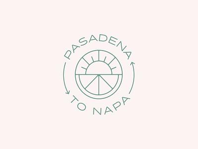 Pasadena to Napa type identity mark graphic design typography logo branding design icon