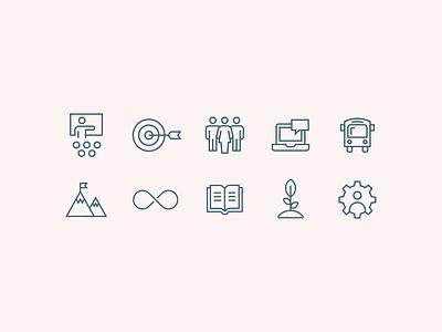 Line Icons icons simple flat identity graphic design vector branding design illustration icon