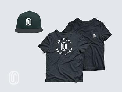 Several Ventures Swag mockup swag hat apparel shirt typography logo branding design illustration icon