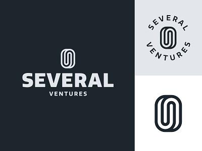 Several Ventures Branding seal typography logo branding design illustration icon