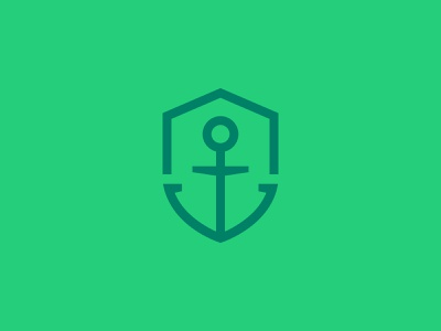 Anchor + Shield Mark green security shield anchor identity mark logo branding design illustration icon
