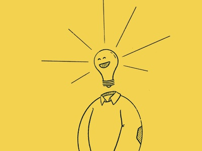 Lightbulb-man Illustration hand illustration lightbulb light procreate branding design illustration icon