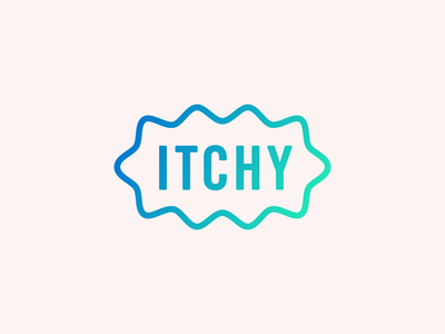 Itchy Social Logo gradient social media social itchy germ logo branding design illustration icon