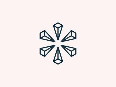 Abstract Hex Logo identity 3d abstract hexagon hex logo branding design illustration icon