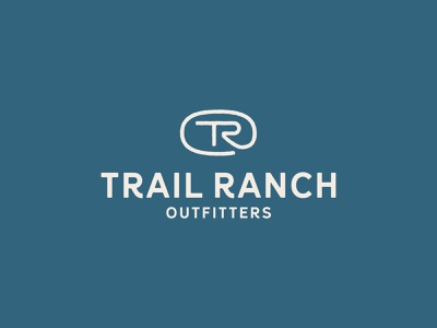 Trail Ranch Outfitters Logo ranch trail texas rustic vintage tr brand identity mark typography logo branding design illustration icon