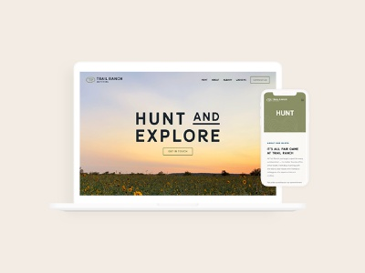 Trail Ranch Outfitters Website web design site website web ui