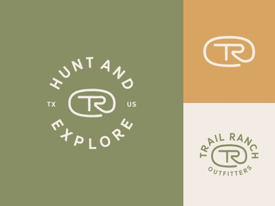 Trail Ranch Outfitters Logo Family seal mark identity typography logo branding design illustration icon