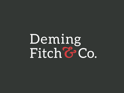 Deming Fitch & Co. red gray ampersand branding graphic design mark illustration icon logo