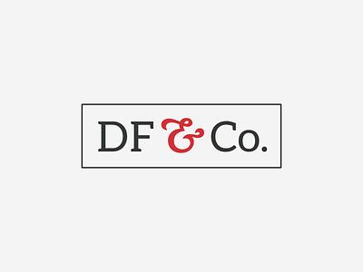 Deming Fitch & Co. Alt Mark red gray ampersand branding graphic design mark illustration icon logo