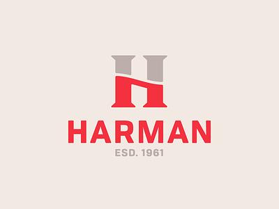 Harman Logo established wave red h letter monogram icon branding brand identity logo