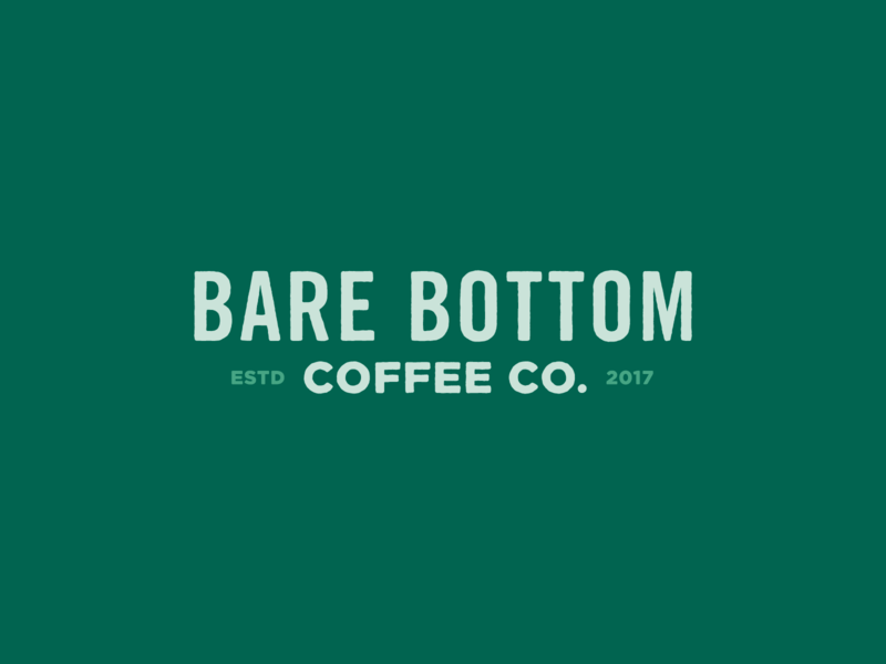Bare Bottom Coffee Logo bear roaster coffee wordmark identity typography design mark logo branding