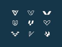 V Logo Exploration