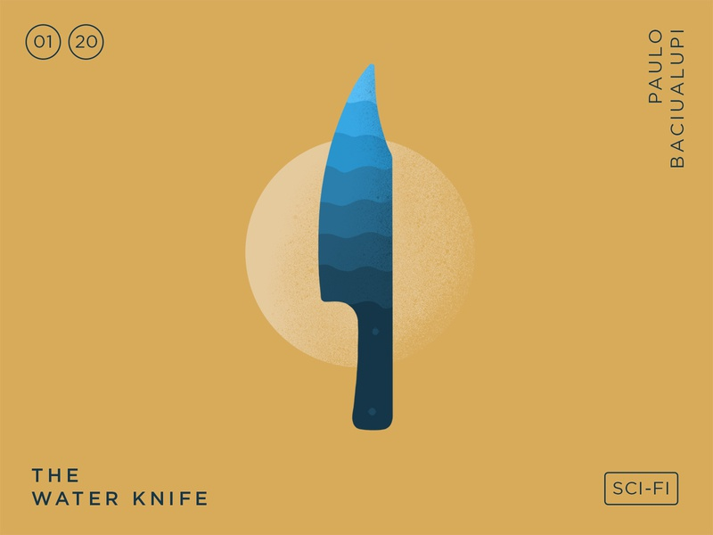 2020 Books – The Water Knife reading procreate ipad water knife simple typography design vector illustration icon book
