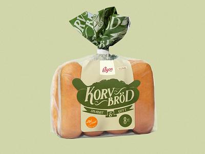 Sausage Buns - Regular packaging illustration typography