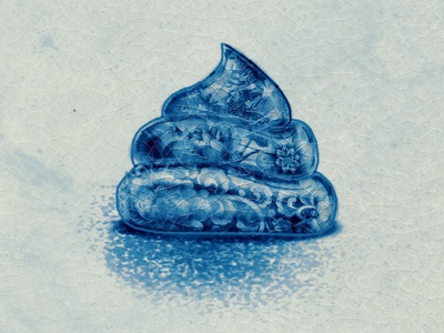 Polish the turd poster porcelain illustration