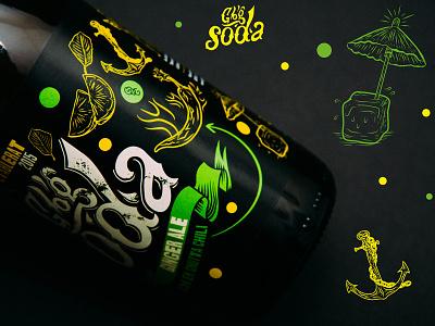 GBG SODA — Ginger Ale illustration packaging