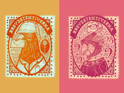 Letterdetectives — Stamps milkcarton arla illustration