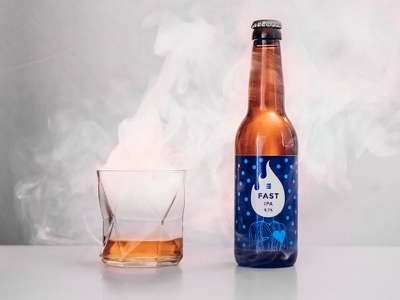 FAST Engineering Ipa packaging illustration beer