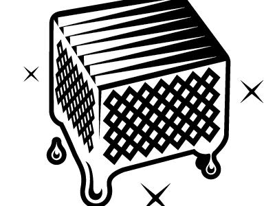 milk-crate of records logo study music turntable dj 1200 candy honey drip drops syrup liquid logos identity