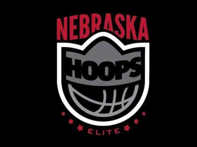 140207: Nebraska Hoops Elite Logo logo brand branding basketball crown hoops