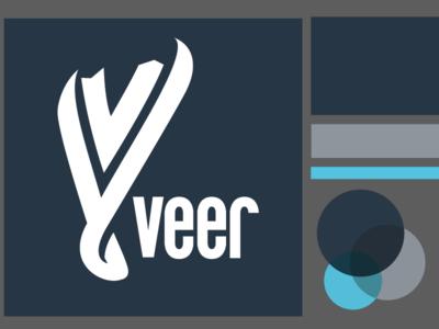 140207- Veer Health & Wellness Logo logo brand branding veer swoosh ribbon twist v blue
