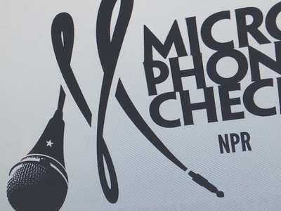 """Microphone Check"" (NPR Hip-Hop) branding logo logos identity system music npr radio internet monogram"
