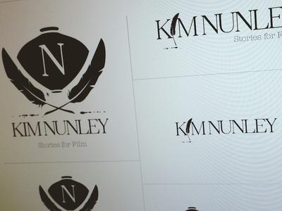 Kim Nunley (screenwriter) - branding & identity design identity logo branding brand film movies screen feather quill pen writer