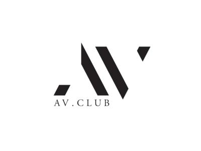 The AV Club coworking brand branding logo