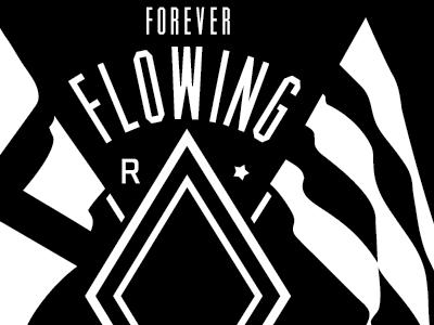 "130113 ""Flowing"" tee design for River City Social Club hand-drawn custom minimal minimalist logo stout flags crest boutique streetwear tees tshirt design river nautical"