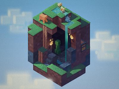 O blocks creeper world minecraft o riotvisualdesign letter-a-day