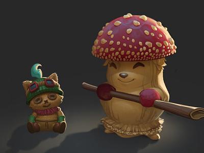 Reverse Teemo mushroom decoy skin league of legends teemo reverse