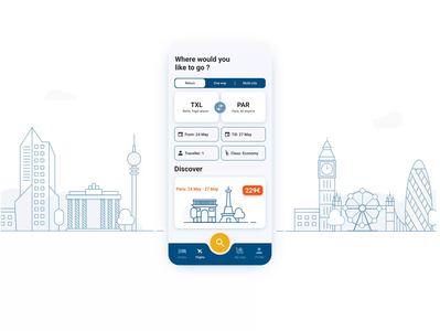 Flight booking app flight app clean airline outline discover booking app mobile menu travel vector after effects minimal web illustration ux ui mobile app interaction design animation adobe xd