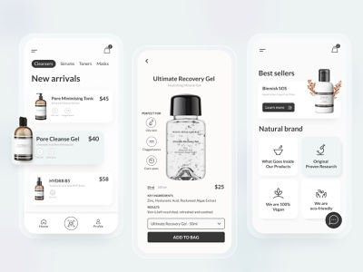 Beauty Mobile App Design mobile ui photoshop mobile design beauty mockups icons 3d illustration ux figma branding clean design ui