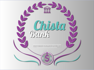 Chista Bank Logo blue cyan purple typography art typogaphy type sans serif passion illustraion icon ux branding logo vector typography graphic flat design danialnazemi art