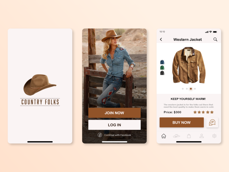 Country Folks adobephotoshop adobexd brown western minimal uiux uxdesign uidesign 3d 2d website art passion logo graphic illustration danialnazemi vector flat design