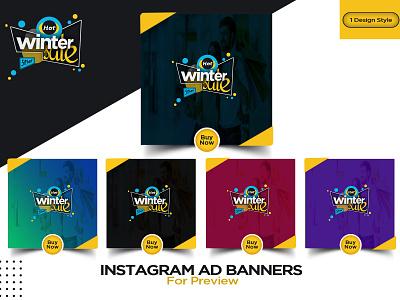 Instagram and facebook ads for social media post socialmedia banner ads banner ad social media design social media banner web design poster design design web ads ad design