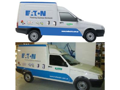 Eaton van vinyl wrap.