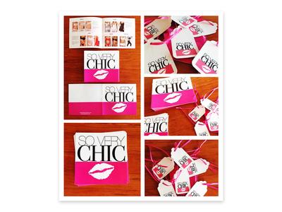 Brochure & clothing tag design.