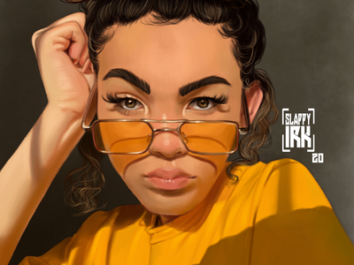 Girl digital portrait draw krita portrait illustration digital painting