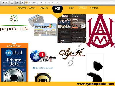 ryanepoole.com web design marketing logos business cards