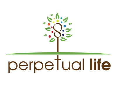 Logo for Perpetual Life marketing logo health markappeal design