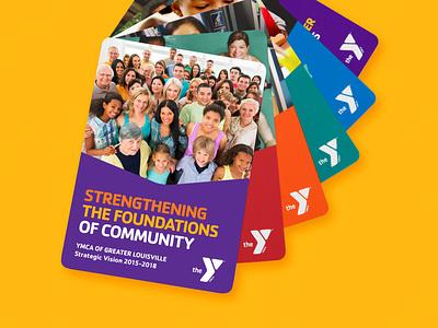 YMCA Strategic Vision print interactive flip ymca color multi-page strategic identity graphic design logo graphic design brand graphic design