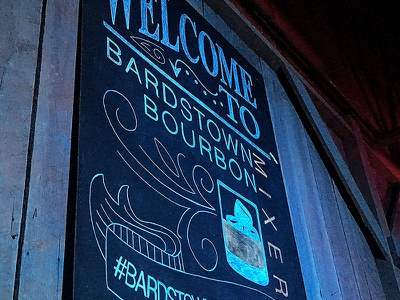 Bardstown Bourbon Mixer Chalkboards bourbon design typography chalk art chalkboard hand lettering